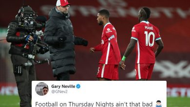 Photo of Gary Neville trolls Liverpool as Reds lose 68-match unbeaten Premier League residence document to Burnley, whereas Jamie Carragher sends top-four warning