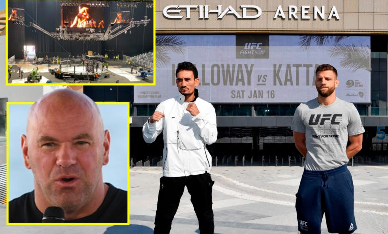 Inside UFC's Fight Island: An exclusive look at the five-star hotel housing Dana White and Conor McGregor complete with F1 track and marina, plus the brand new Etihad Arena