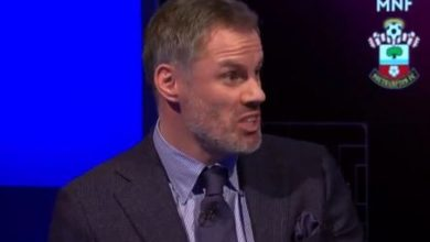 Photo of Liverpool's Premier League title defence questioned as Jamie Carragher laments injury-time quick nook in Southampton defeat