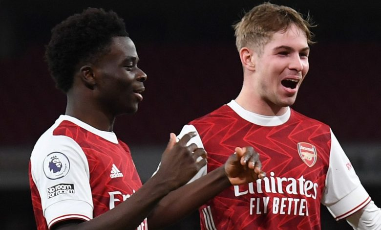 Mikel Arteta admits 'extraordinary' Arsenal youngsters are 'putting a smile' on his face after Emile Smith Rowe and Bukayo Saka dazzle in Newcastle victory