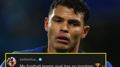 Photo of Thiago Silva's spouse goals cheeky dig at Tottenham over trophies on social media
