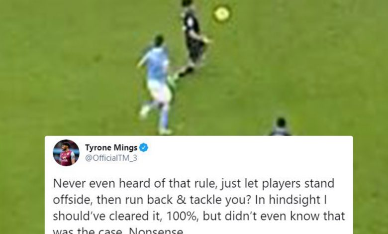 Tyrone Mings slams 'nonsense' offside rule as 'flummoxed' Aston Villa boss Dean Smith reveals what he said after dubious Man City goal