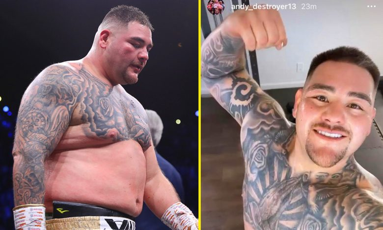 Andy Ruiz Jr shows off stunning body transformation after losing 20lbs with Canelo Alvarez trainer before comeback fight