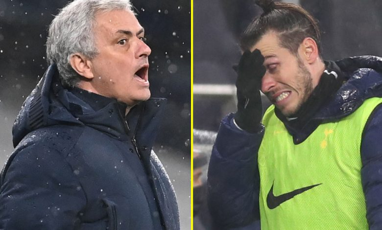 Jose Mourinho snaps at journalist when asked why Gareth Bale didn't play against Chelsea as Tottenham boss reaches unwanted milestone