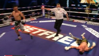 Photo of Josh Warrington KNOCKED OUT: Watch big upset as former IBF featherweight champion is KOd by Mexican underdog Mauricio Lara