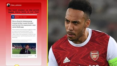 Photo of Pierre-Emerick Aubameyang laughs off Jamie Redknapp's declare he's 'previous his greatest' as Arsenal star nets twice in Europa League victory