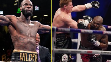 Photo of Dillian Whyte vs Deontay Wilder referred to as for by promoter Eddie Hearn after Whyte's revenge KO win over Alexander Povetkin