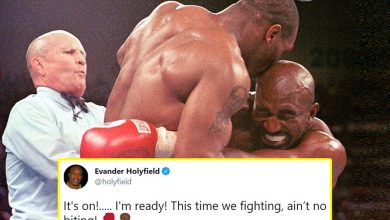 Photo of Evander Holyfield teases trilogy struggle with Mike Tyson – 'This time we preventing, ain't no biting!'