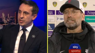 Photo of Gary Neville vs Jurgen Klopp: Sky Sports activities pundit clashes with German in unimaginable alternate as Liverpool boss hits again at 'thrown beneath a bus' European Tremendous League reference