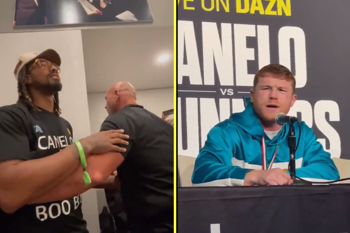 'F*** you' – Canelo involved in furious confrontation with Demetrius Andrade who wants fight after Billy Joe Saunders win but it looks like Caleb Plant is next