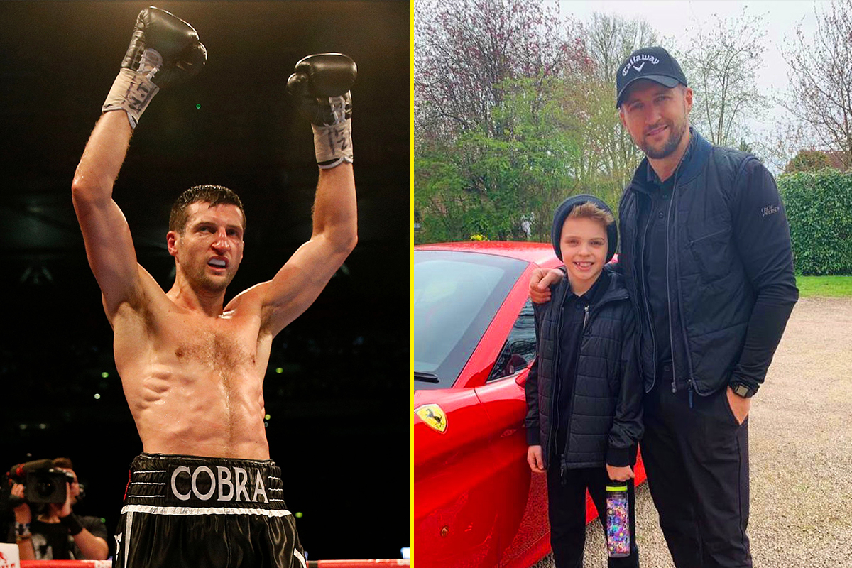 Carl Froch tells hilarious story of how he floored his ten-year-old son in sparring, insists his children will not become boxers