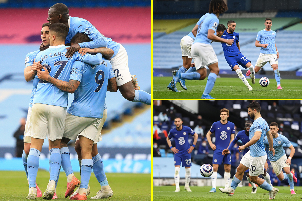Chelsea and Sergio Aguero delay Man City's Premier League title win as Marcos Alonso snatches Blues dramatic victory late on