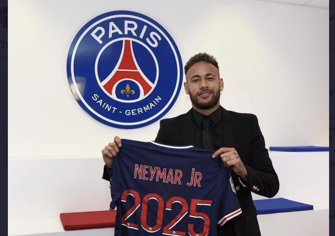 Neymar signs new PSG contract worth £26million-a-year to end talk of Barcelona return