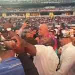 Tyson Fury mobbed by followers in loopy scenes as he arrives at stadium for Canelo Alvarez vs Billy Joe Saunders