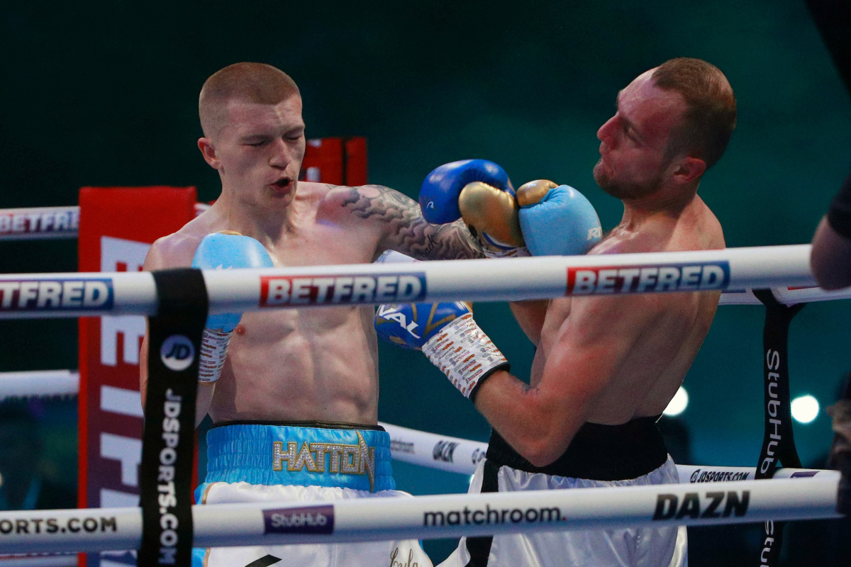 Campbell Hatton RESULT: Ricky Hatton's son wins third fight as his nervous father watches on