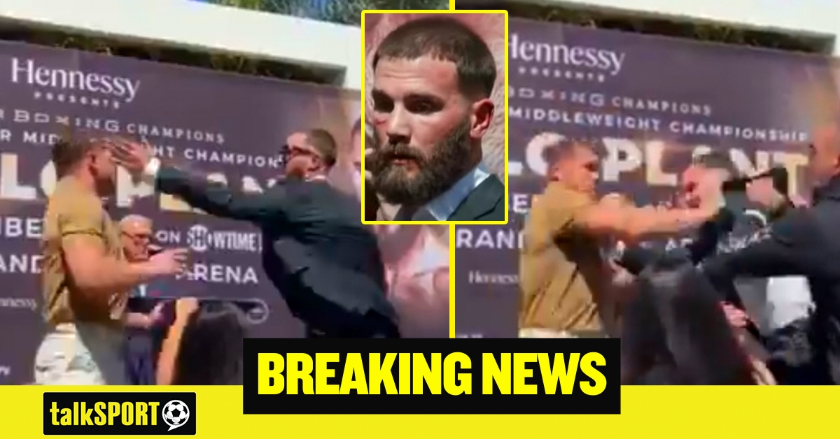 'Don't talk about my mom!' – Canelo Alvarez CUTS Caleb Plant at press conference with punch to the face as Mexican gets angry over insult