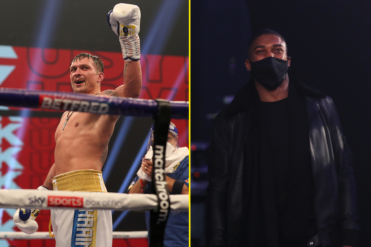 Video emerges of Anthony Joshua and Oleksandr Usyk exchanging words after Usyk's last win against Derek Chisora